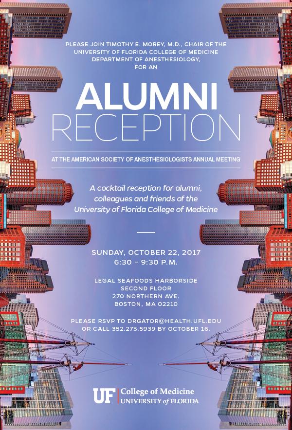 2017 Alumni Reception invitation