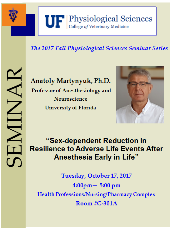 Dr. Martynyuk Seminar Flyer