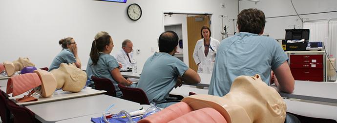 Critical care fellows in class setting