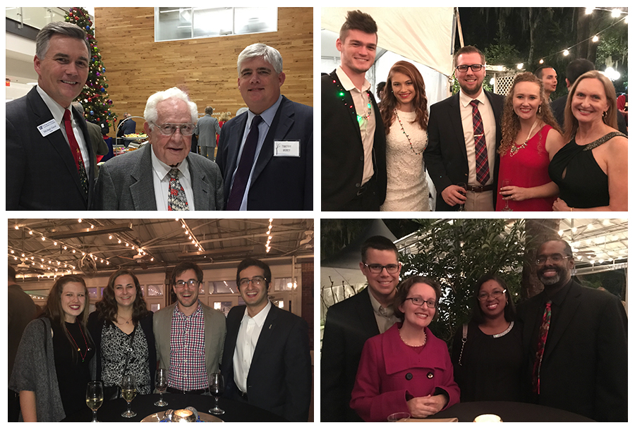 Image collage from 2017 holiday parties